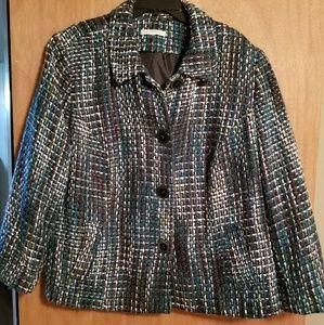 JM Collection size 16 tweed blazer